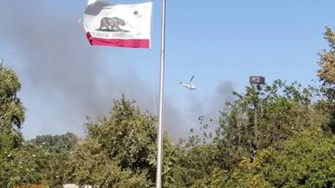 PHOTOS: Several fires burning around Bakersfield