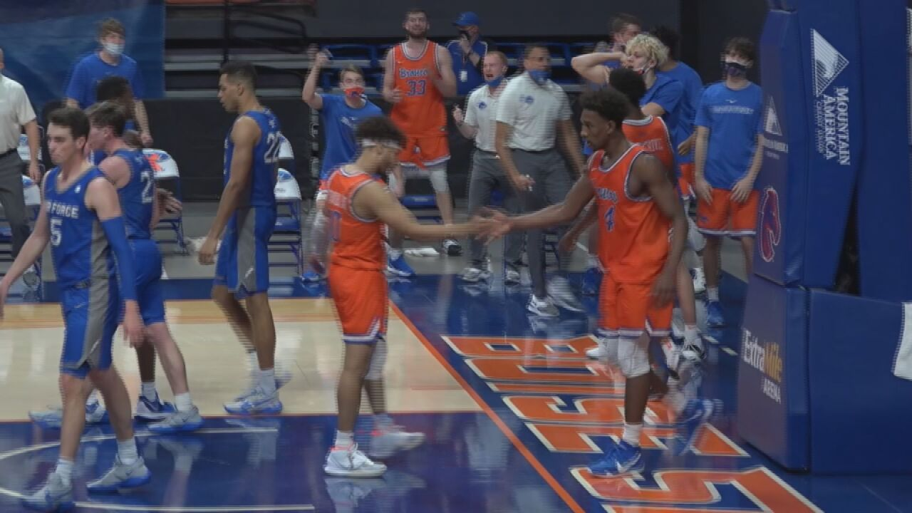 Falcons relinquish first half lead in 80-69 loss at Boise State