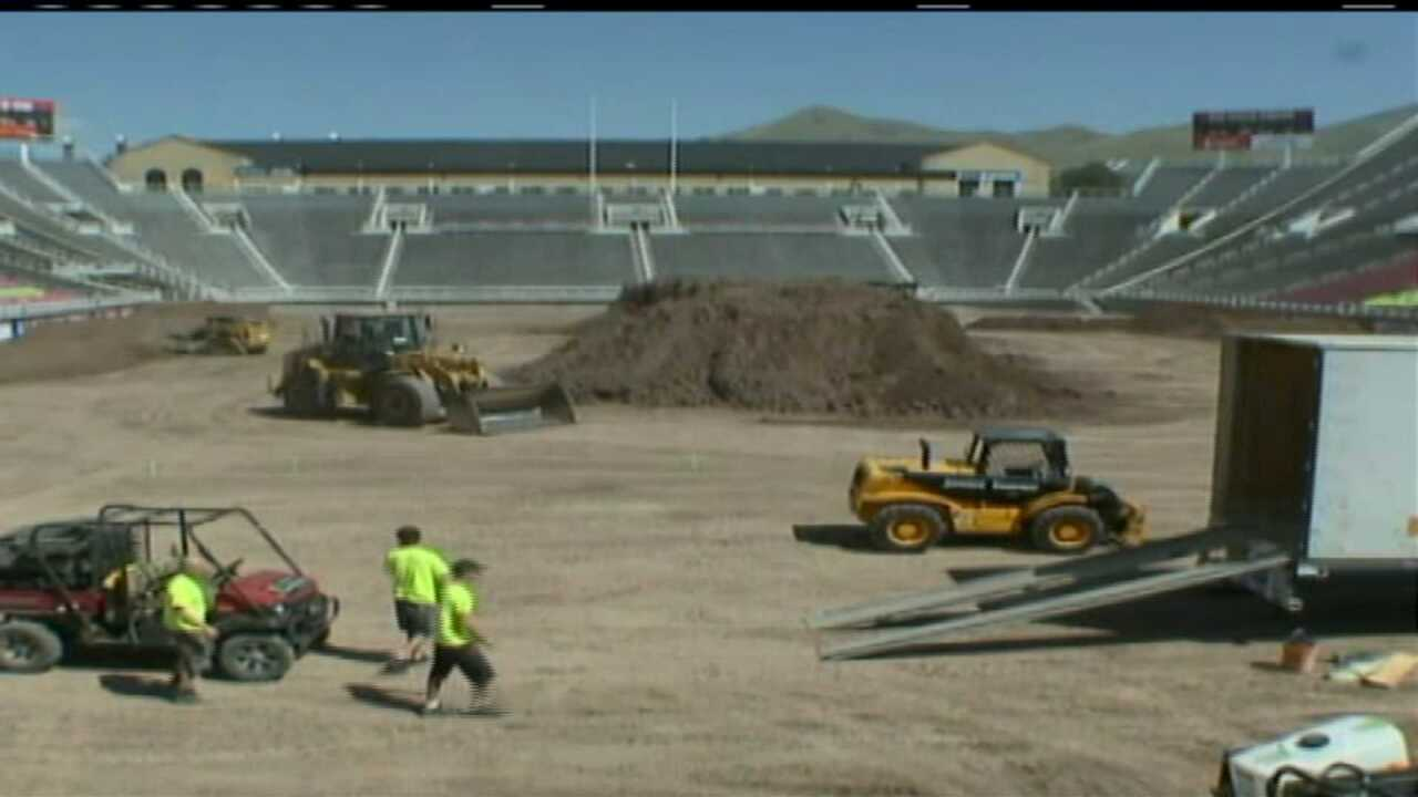 1.5 million pounds of dirt used to create motocross track