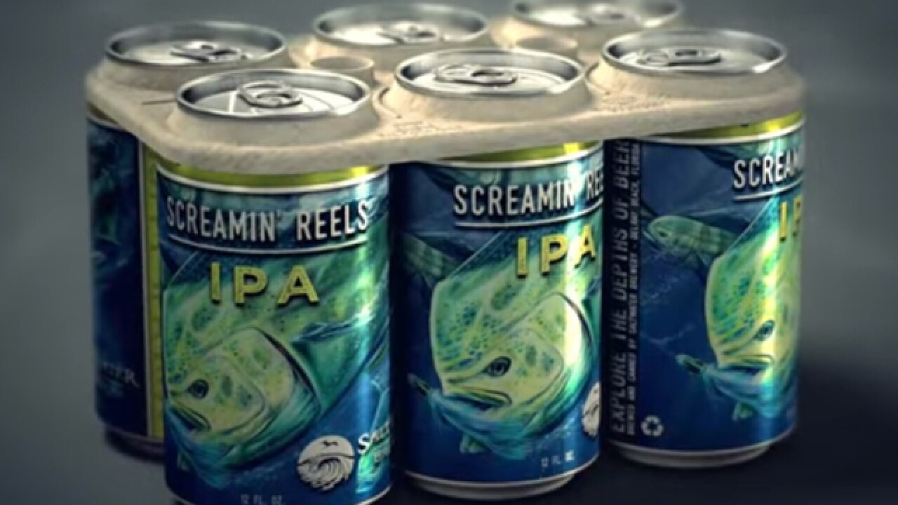 Saltwater Brewery manufactures and sells eco six-pack rings to help protect marine life from plastic