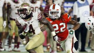 Florida State Seminoles running back Dalvin Cook vs. Miami Hurricanes in 2016
