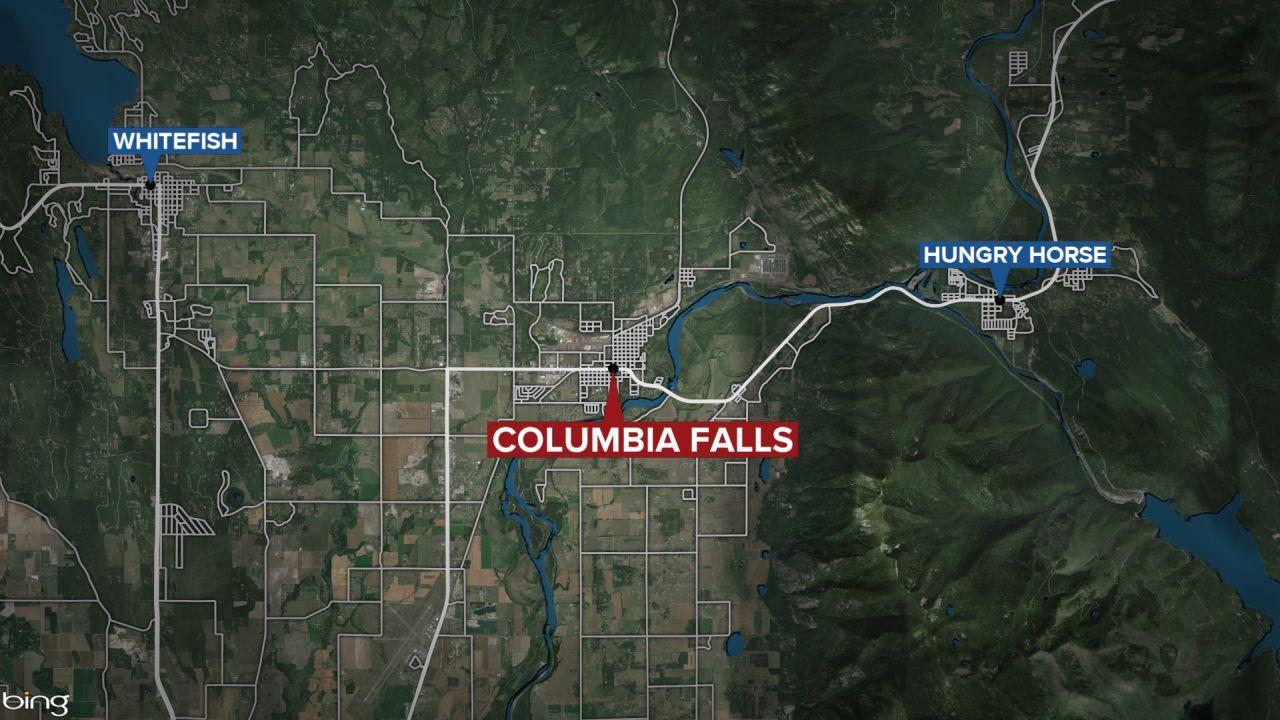 Columbia Falls Montana map