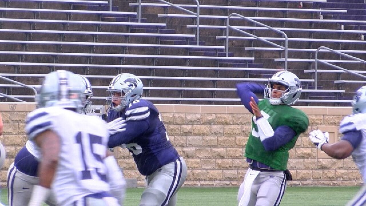 K-State QB's Hot in Cold Spring Game