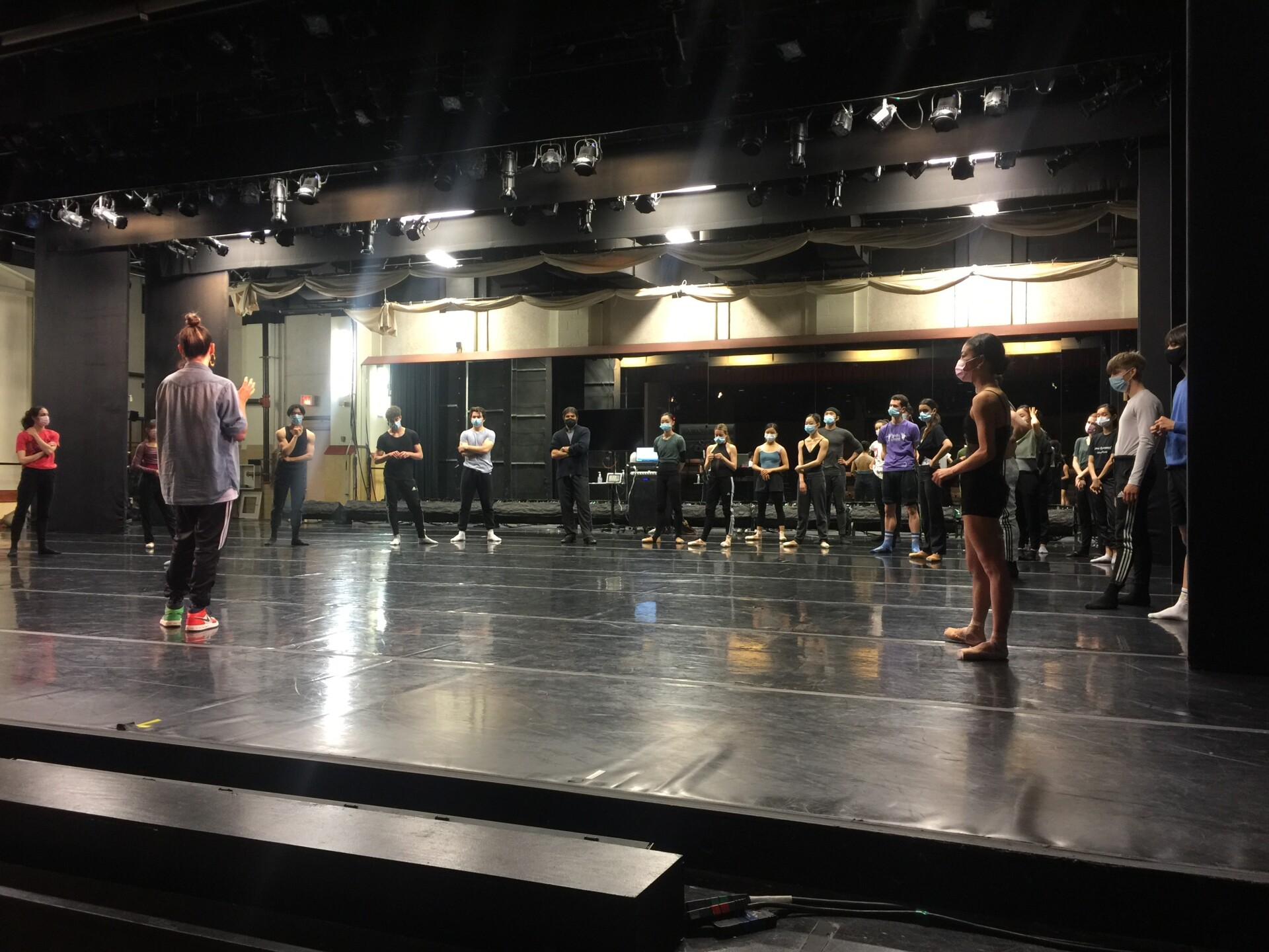 Tulsa Ballet rehearsal