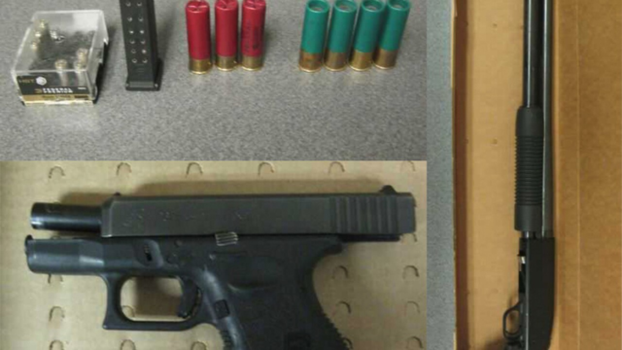 Man arrested with loaded pistol, shotgun