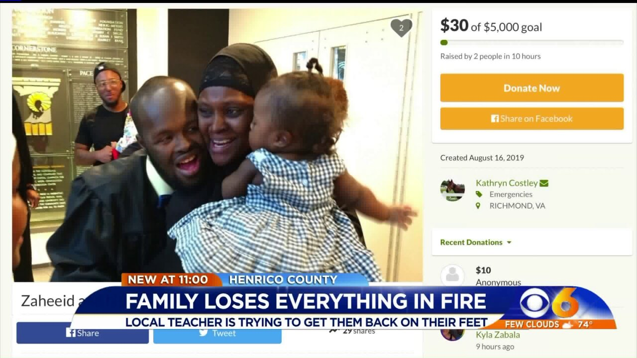 Virginia teacher helps former student's family who 'lost everything' after lightning strike