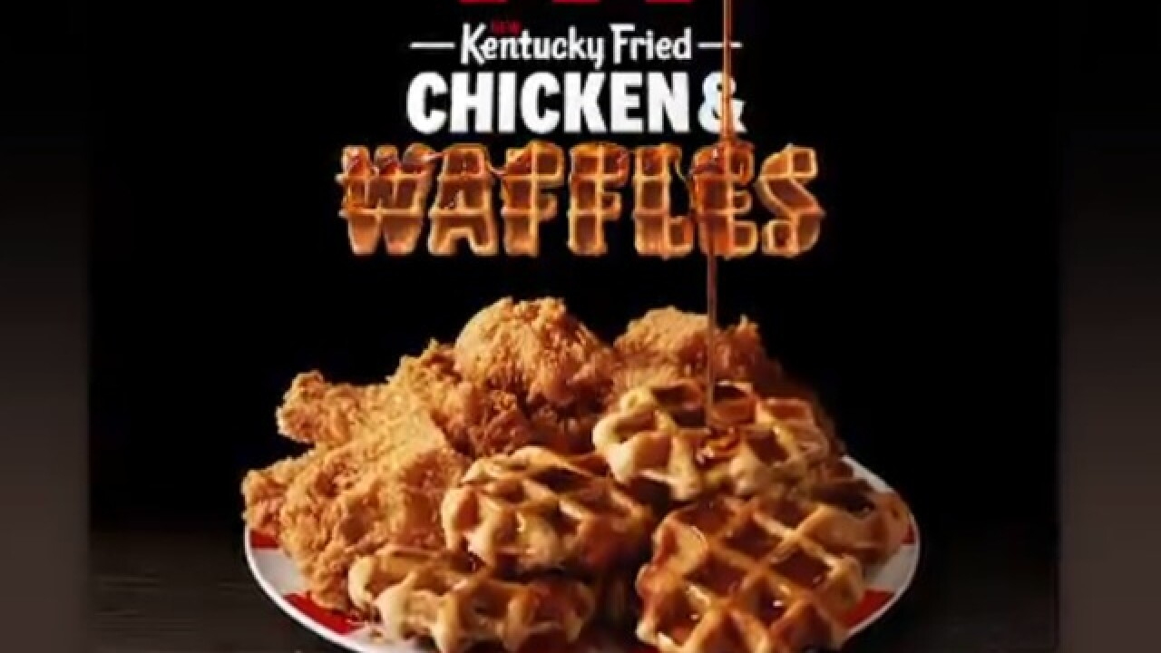 KFC to offer chicken and waffles