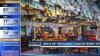 Siesta Key restaurant donates money to Dorian relief right off their walls