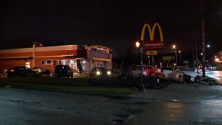 Car into McDonald's on Lee Road