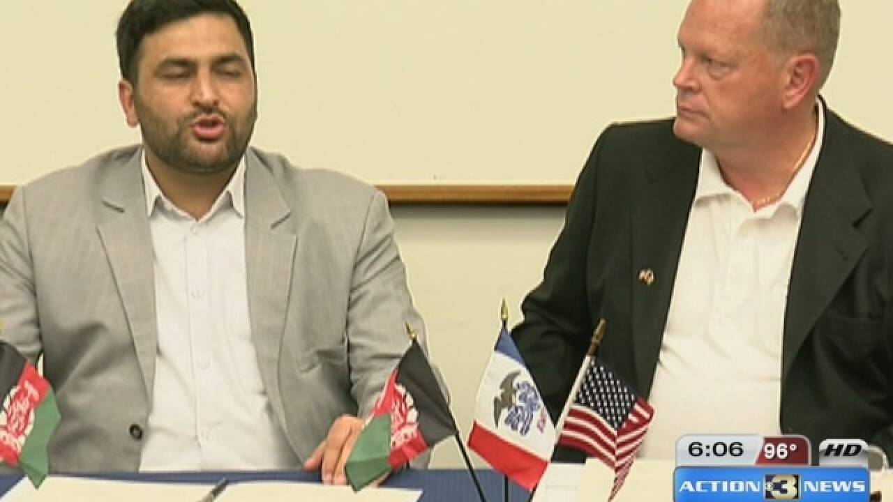 CB becomes sister city with an Afghan city