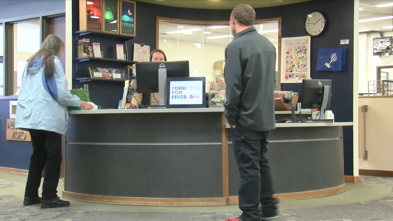 Missoula's Public Library Food for Fines event waives late fees