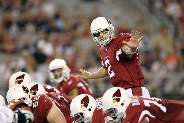 Here's a list of every quarterback who has thrown a touchdown pass to Larry Fitzgerald