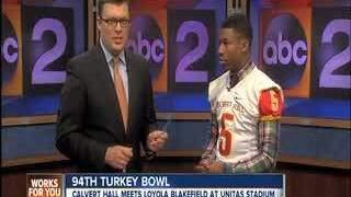 2013 Turkey Bowl: Calvert Hall studio interviews