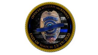 Officer William McKinney badge