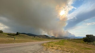 Magpie Rock Fire about eight miles west of Dixon