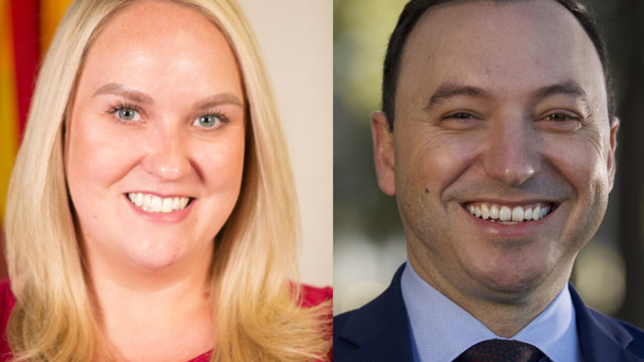Ducey's office announced Thursday that Chief of Staff Daniel Scarpinato will join a Washington-based advertising and political consulting firm and that Deputy Chief of Staff Gretchen Conger will head to Arkansas to serve as a senior adviser on Sarah Huckabee Sanders' campaign for governor.