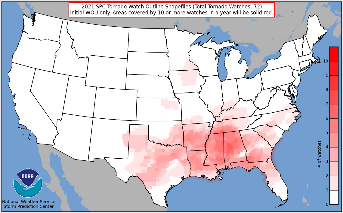 Tornado Watches In 2021
