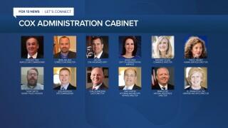 Cox cabinet picks