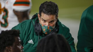 Miami Hurricanes head coach Manny Diaz at Duke Blue Devils in 2020
