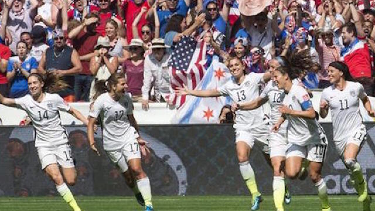 US women soccer stars file suit over wages