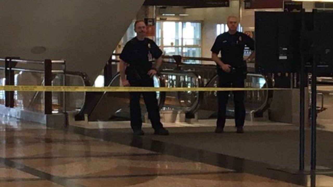 Part of DIA main terminal evacuated