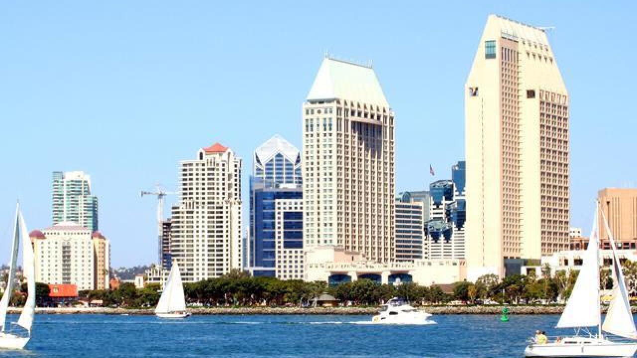 San Diego Skyline Then Now