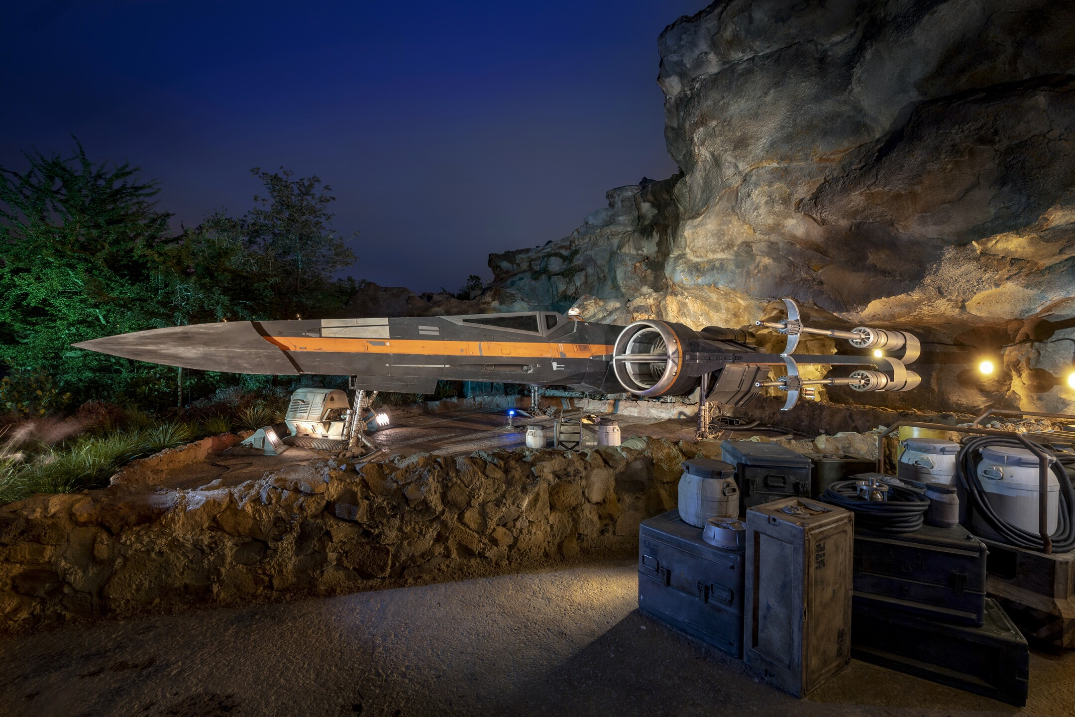Poe Dameron's X-Wing Starfighter in Star Wars: Rise of the Resis