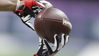 APTOPIX NFL Combine Football
