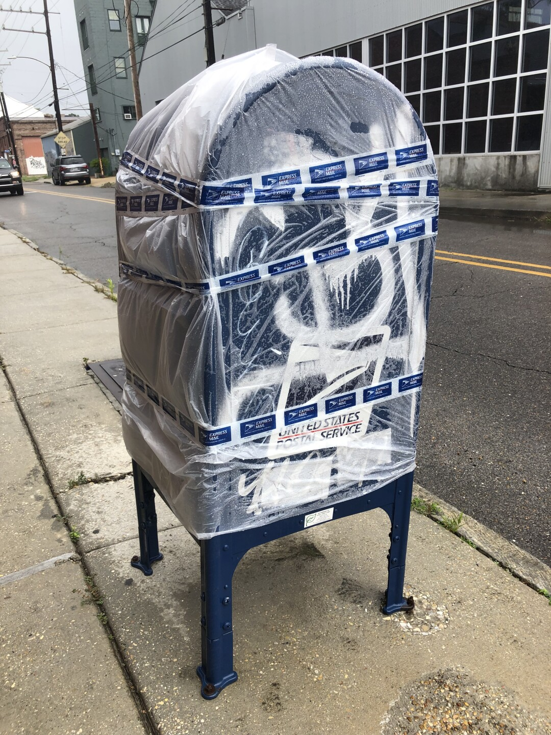 USPS tape up mailboxes across New Orleans ahead of Barry
