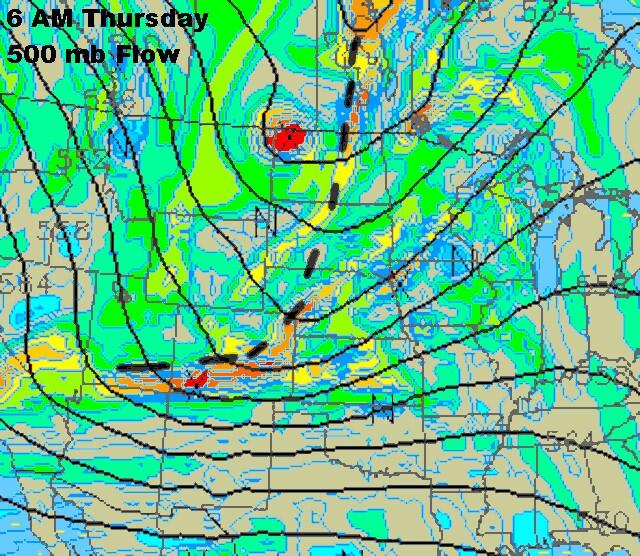 Upper Level  Flow Valid 6 AM Thursday