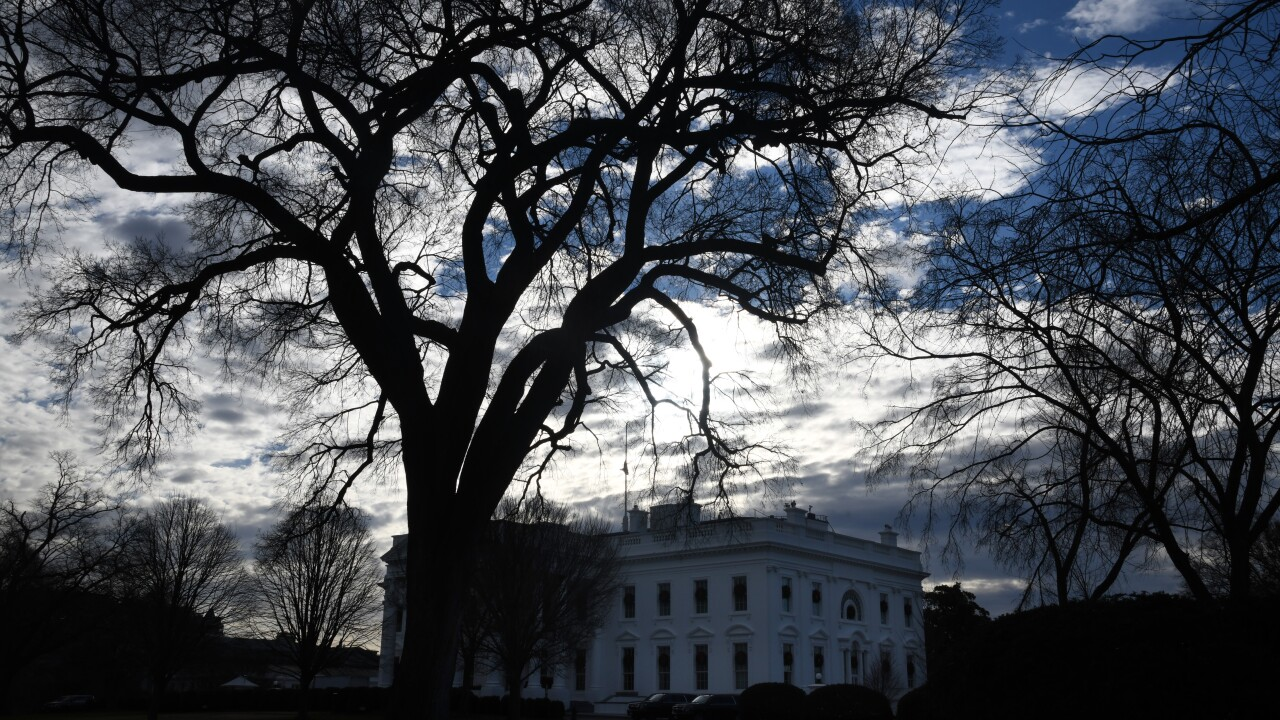 President Trump Remains At The White House As Government Shutdown Begins