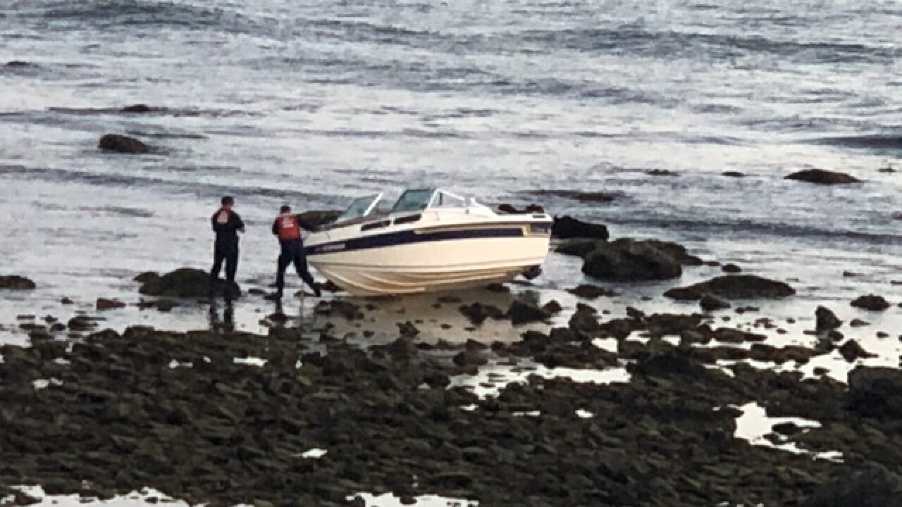 Runaway boat runs aground as man tries to dock