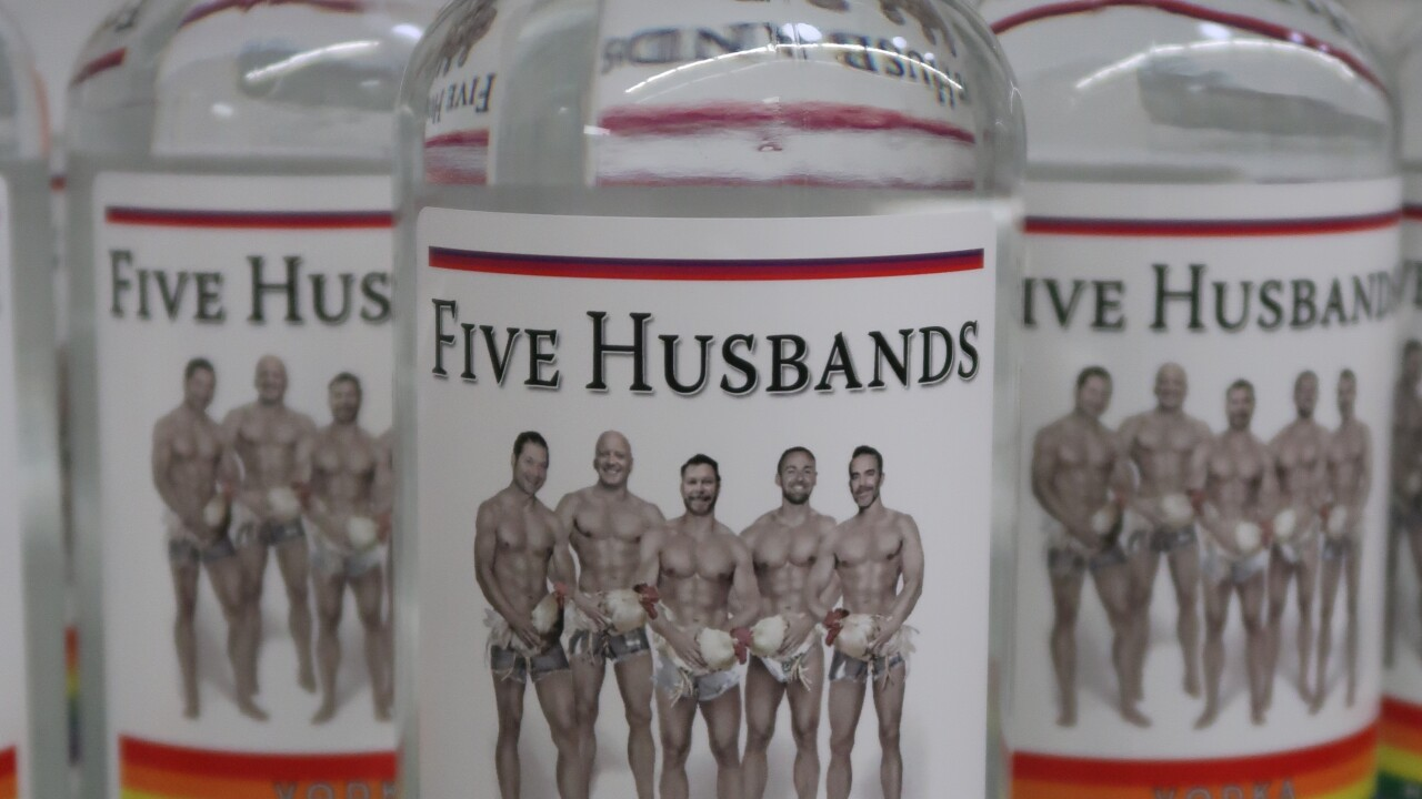 Ogden distillery launches gay-themed 'Five Husbands Vodka'