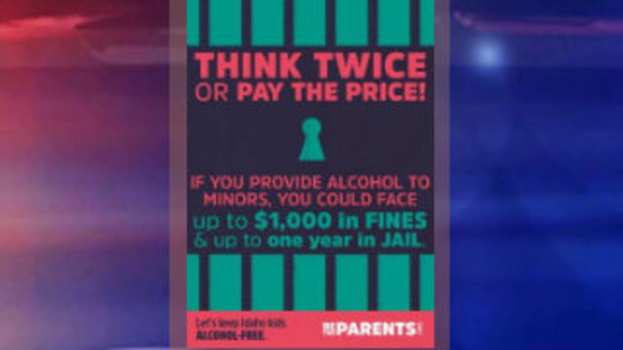 "Idaho ""Sticker shock"" campaign aims to curb underage holiday drinking"