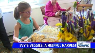 Girl uses money from veggie stand to buy gifts for senior citizens