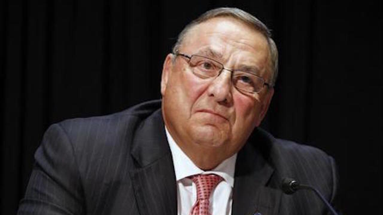 Maine governor takes blame for tirade