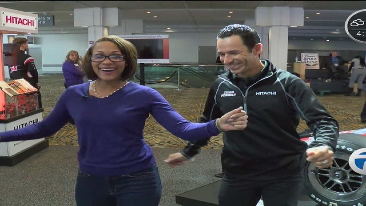 Helio Castroneves stops by NAIAS