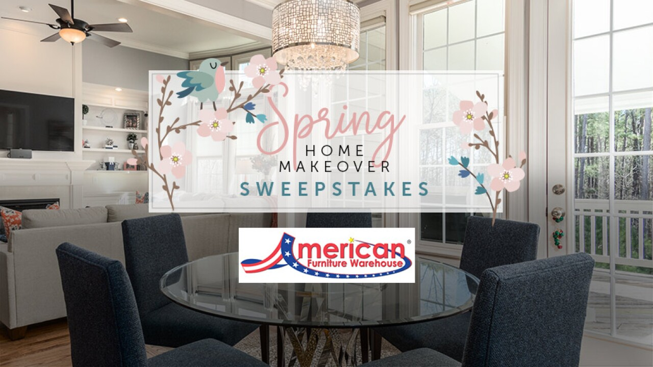 Rules Spring Home Makeover Sweepstakes American Furniture Warehouse