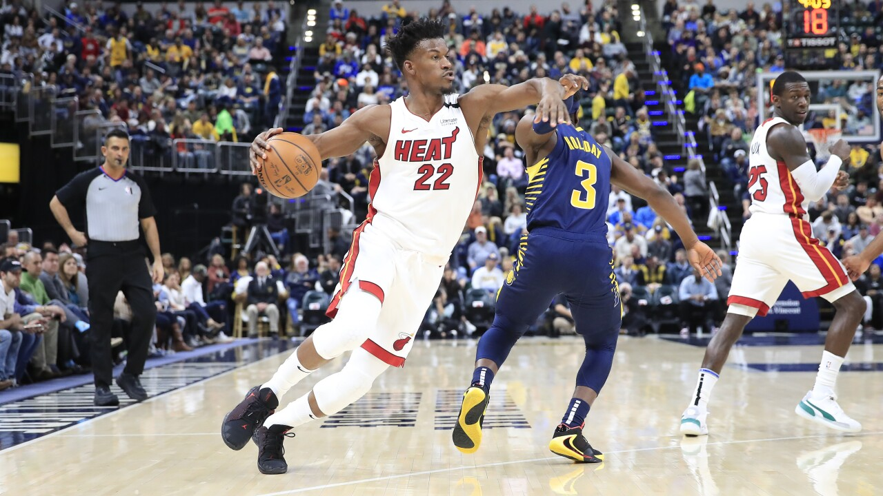Heat beat Pacers at home