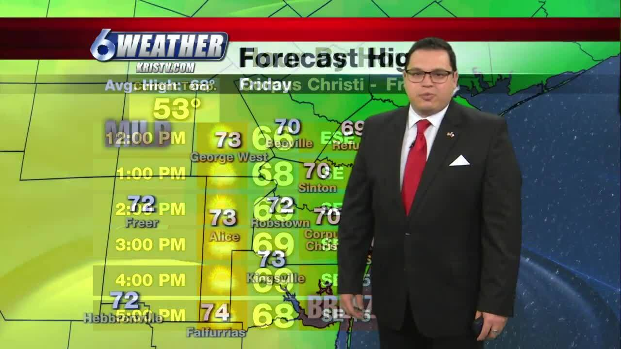Juan Acuña's weather forecast for Friday and the weekend