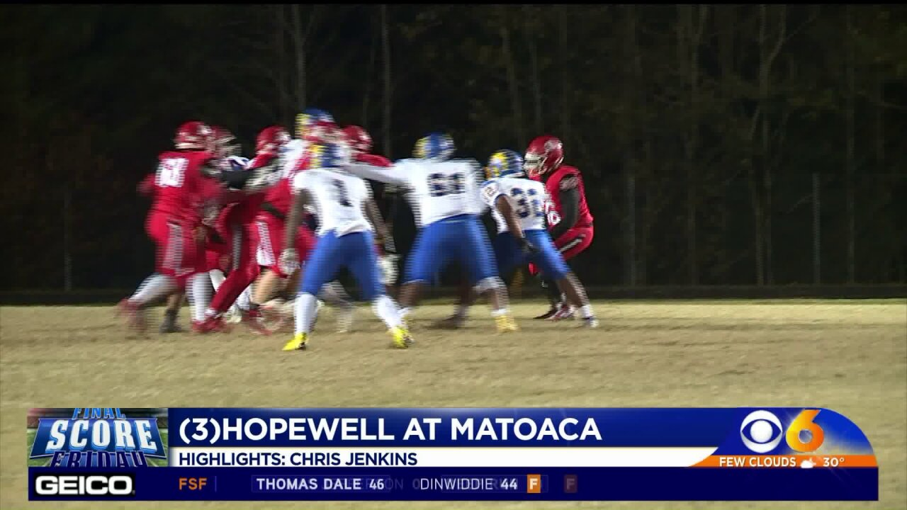 Hopewell caps first perfect regular season in 50 years with win overMatoaca