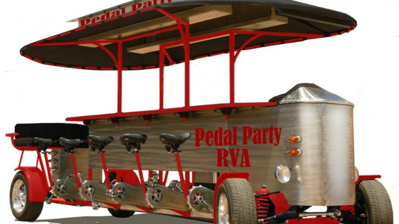 Pedal Party RVA wheels out their bike trolley