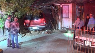 Woman crashes SUV into Lakeside home