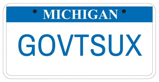 Photo gallery: License plates rejected by Michigan Secretary of State