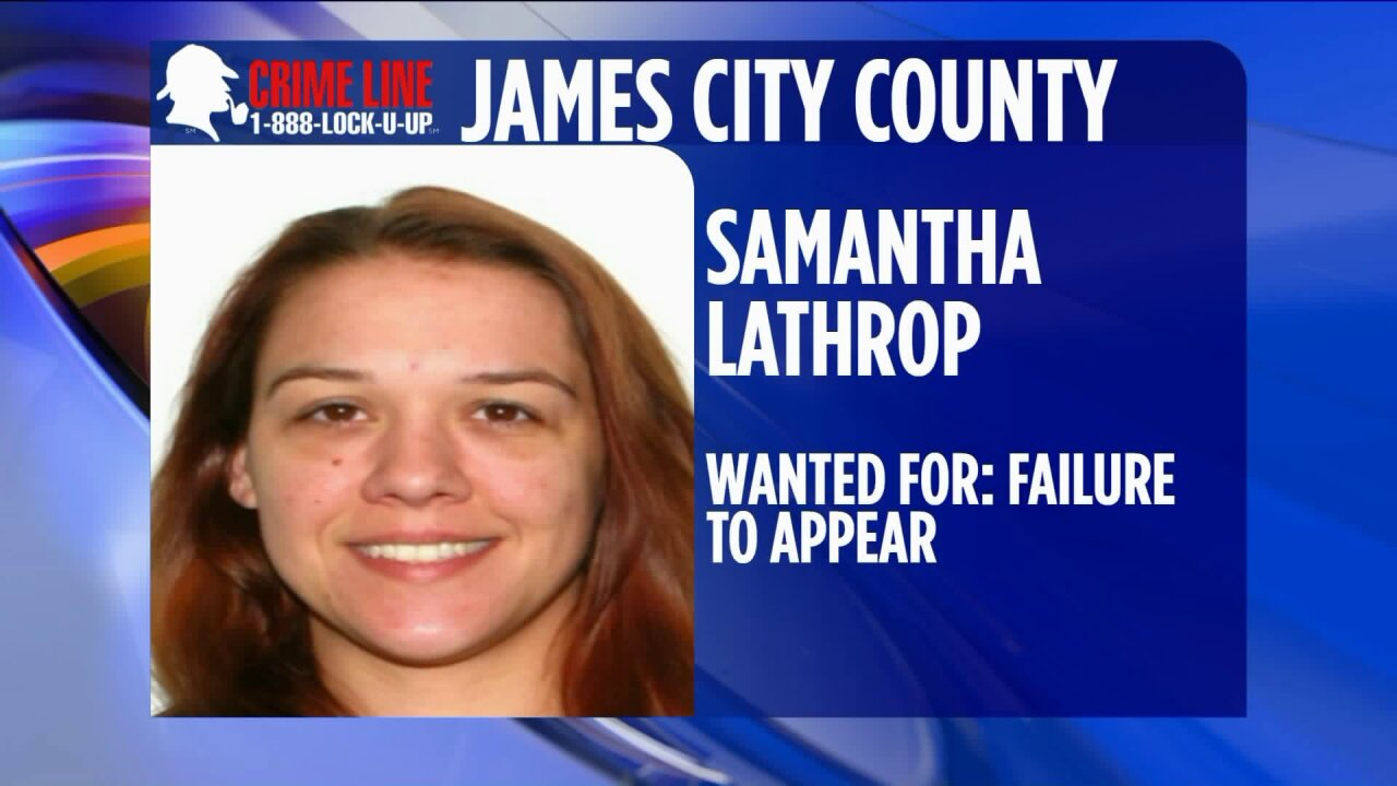 James City County Police looking for woman wanted for failure to appear