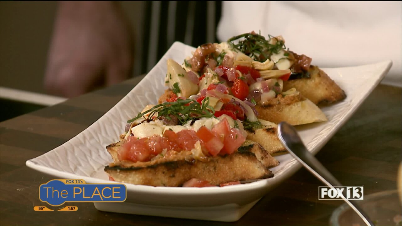 UVU chef and student champion make Trio of Bruschetta ahead of their fundraiser