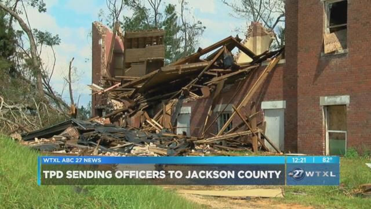 TPD sends officers to aid in Jackson County recovery efforts