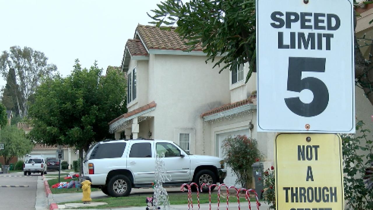 Amazon driver ignores neighborhood speed limit