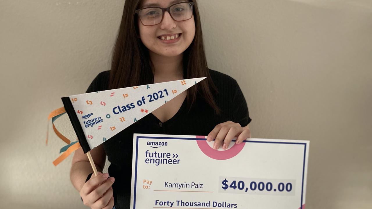 Local teen gets big scholarship, internship from Amazon