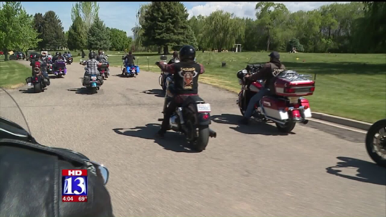 Bikers form funeral procession for Ogden boy who lovedmotorcycles